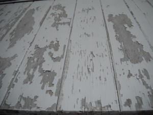 Peeling paint on siding